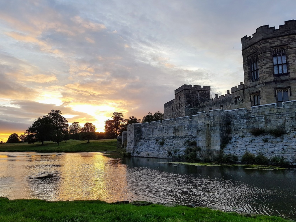 sunset at raby castle